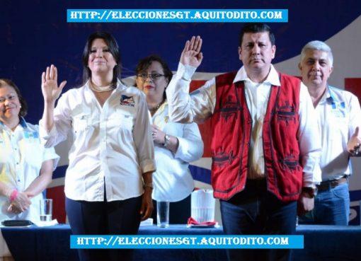 Binomio Presidencial Estuardo Galdámez y Betty Marroquín Elecciones 2019
