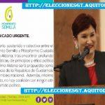 Movimiento Semilla anuncia que Thelma Aldana será su presidenciable
