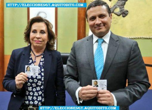 Binomio Presidencial del Partido UNE Recibieron sus Credenciales para las Elecciones 2019