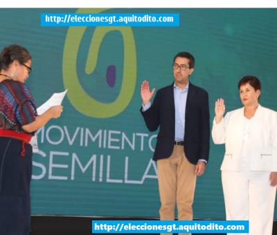 Partido Semilla Proclama a su Binomio Presidencial Thelma Aldana y Jonathan Menkos para las Elecciones 2019