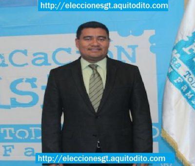 Gonzalo Romero como candidato a alcalde de Mixco por el partido oficial FCN Nación Elecciones 2019